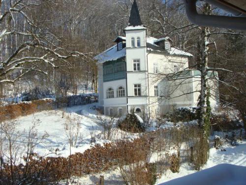 Villa in der Nachbarschaft im Winter