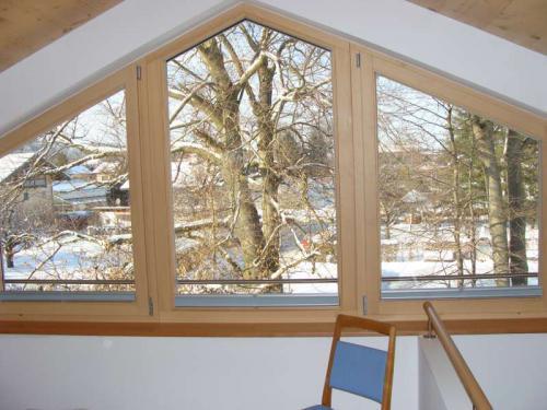 Blick aus dem Galeriefenster